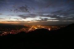 Simi Valley Nightfall - coucher du soleil de la Californie du sud Photos libres de droits