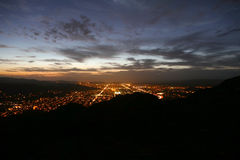 Simi Valley Nightfall - Southern California Sunset Royalty Free Stock Photos