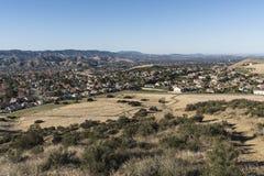 Simi Valley Suburban Fields près de Los Angeles la Californie Photos libres de droits
