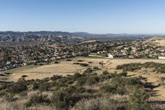 Simi Valley Suburban Fields vicino a Los Angeles California Fotografie Stock Libere da Diritti