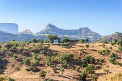 Simien山在埃塞俄比亚 库存照片