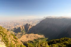 Simien Mountains landscape Royalty Free Stock Image