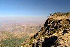 Simien Mountains landscape Royalty Free Stock Photo