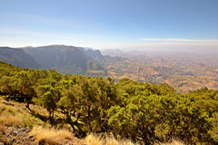 Simien Mountains landscape Royalty Free Stock Photos