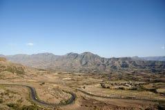 Simien mountains landscape in ethiopia. Simien mountains landscape near lalibela ethiopia Royalty Free Stock Photos