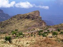 Simien mountains near Bwahit Pass Royalty Free Stock Photography