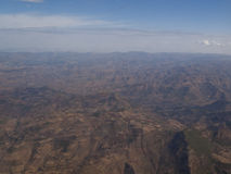 Simien Mountains from the sky Stock Photography