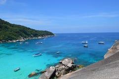 Similan和素林海岛在泰国 免版税库存照片