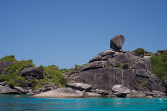 Similan ö i Thailand Arkivbilder