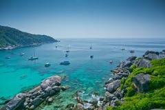 Similan öar, Thailand, Phuket. Arkivbilder