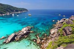 Пляж рая островов Similan, Таиланда Стоковое Изображение RF