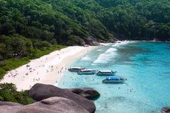 similan 4个海湾的海岛 免版税库存照片