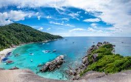 Similan bay sailing rock island in andaman sea Royalty Free Stock Photography