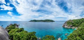 Similan bay sailing rock island in andaman sea Stock Image