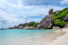 Similan bay sailing rock island in andaman sea Stock Photo