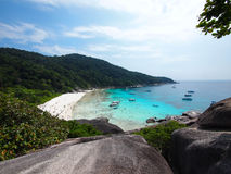 A Similan beach. The bird-eye view of a sand beach Stock Images