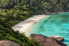 Similan ? i Thailand South Asia arkivfoto