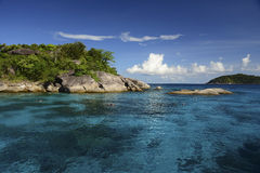 Similan-Inseln in Andaman-Meer, Thailand Lizenzfreies Stockfoto