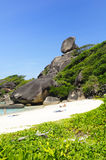 Similan Islands beach in Southern Thailand Royalty Free Stock Images