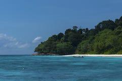 Similan island,Andaman sea,Similan Island,thailand. Sun shining on the blue sea and sky with island Stock Images