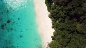 Similan island and beach aerial view in Thailand