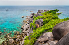 Similan island beautiful ocean coast view in Andaman Sea Stock Photos