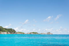 Similan island and beautiful tropical beach at andaman sea in Ph Stock Image