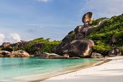 Similan island in Thailand. South Asia. Rock `Sail`on the Similan island in Thailand. South Asia stock photo