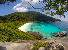 Similan island view point Royalty Free Stock Image