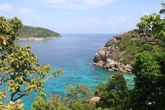 Similan Islands. Scenic view of picturesque ocean bay, Similan Islands, Thailand Stock Photo