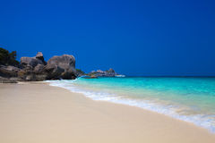 Similan Islands. Crystal clear waters on Similan Islands in Thailand Royalty Free Stock Photography
