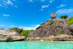Similan Islands, Andaman Sea, Thailand. Blue sea Royalty Free Stock Photos