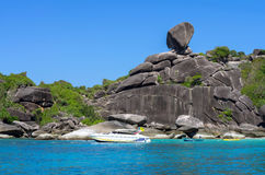 Similan islands, Beautiful view of the rock Sail. Thailand Stock Images
