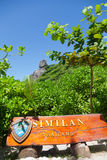 Similan Islands. Entrance to the National Park, Similan Islands Royalty Free Stock Photography