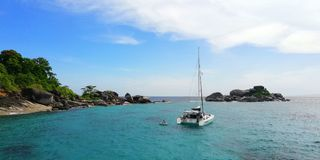 The Similan Islands, Ko Miang stock photo