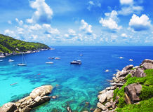 Similan islands, Thailand, Phuket. Royalty Free Stock Images
