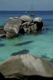 similan sten thailand för öhav Arkivfoton