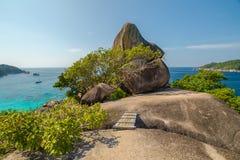 Similan wysp żagla skała Obrazy Stock