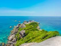 Similan wyspa, Koh Osiem, Tajlandia Fotografia Stock