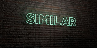 SIMILAR -Realistic Neon Sign on Brick Wall background - 3D rendered royalty free stock image Stock Images
