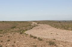Similar to Sahara. This area is in the areas of Marrakesh, Morocco, oases and tracts in rocks and roads royalty free stock photo