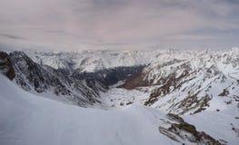 Similaun glaciär i vinter i Österrike Royaltyfri Bild