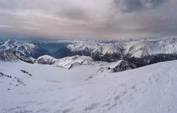Similaungletsjer in de winter in Oostenrijk royalty-vrije stock foto's