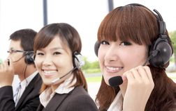 Similing business customer service team Stock Images