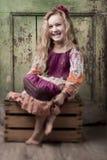 Similing little girl Stock Photo