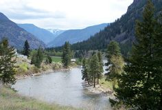 Similkameen River near Hedley Stock Photography