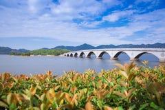 Siming湖在浙江,中国宁波  库存图片