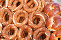 Simit. A Traditional turkish bagel Royalty Free Stock Images