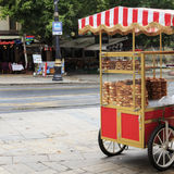 Simit Cart,Istanbul,Turkey. Royalty Free Stock Photo