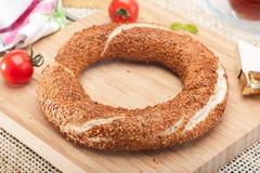 Simit-Frühstück Stockfotos